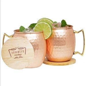 Other - Moscow Mule Copper Mugs Coasters 16 oz